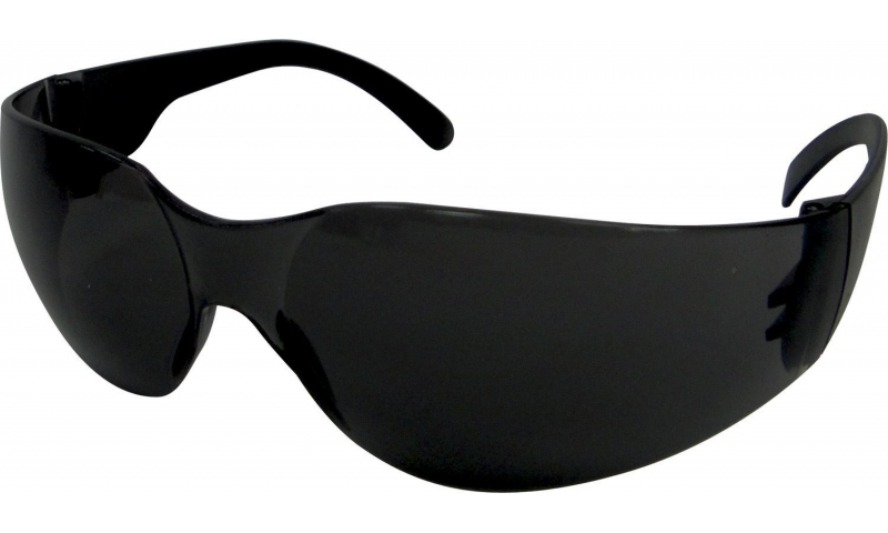 Dark Frameless Safety Glasses