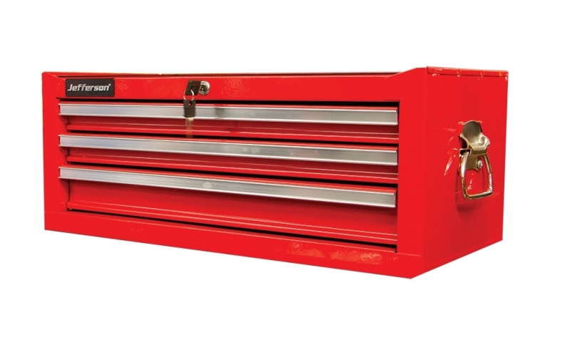 3 Drawer Middle Chest Red