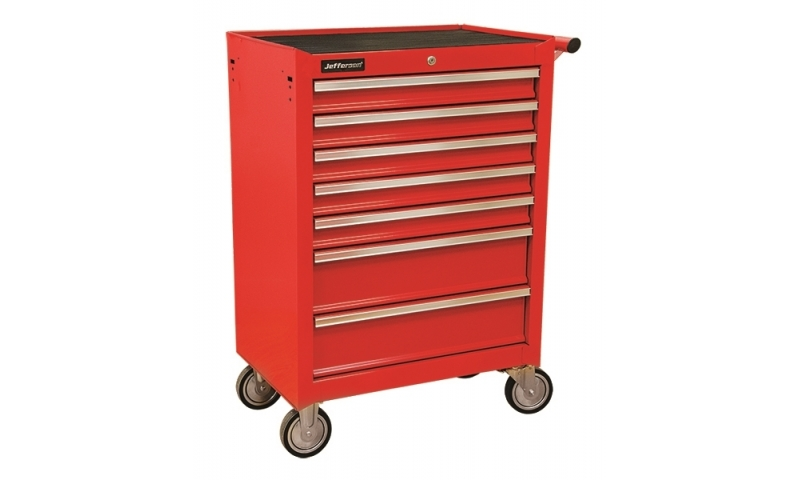 7 Drawer Mobile Trolley Red
