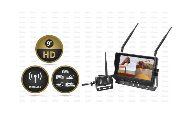 9'' LCD Wireless Digital Reversing Camera System
