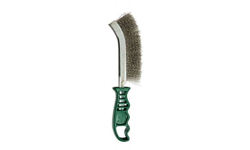 Plastic Handle Stainless Steel Wire Brush