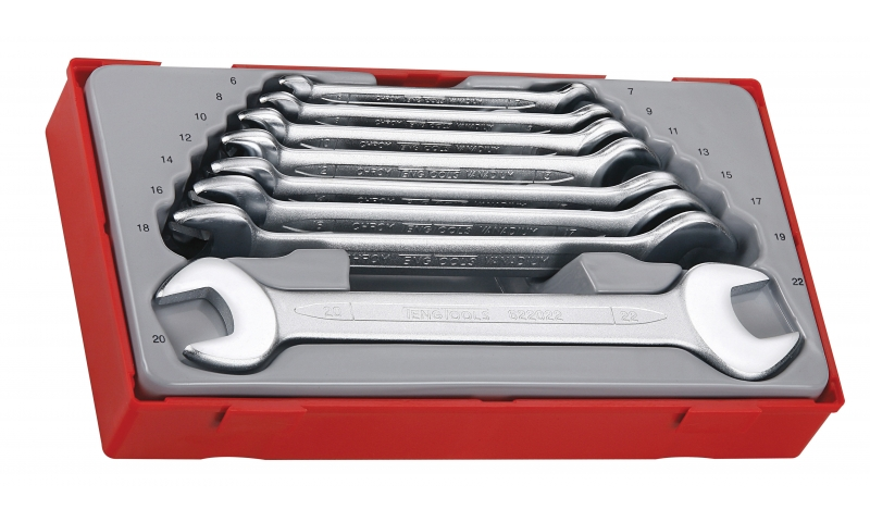 8 PIECE DOUBLE OPEN ENDED SPANNER SET