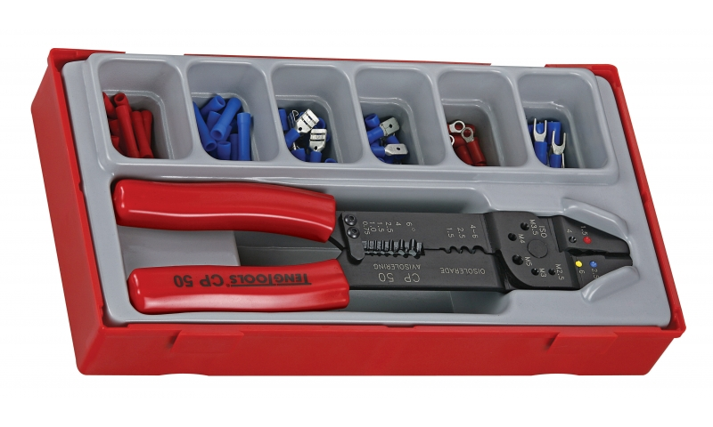 121 PIECE CRIMPING TOOL & TERMINAL SET