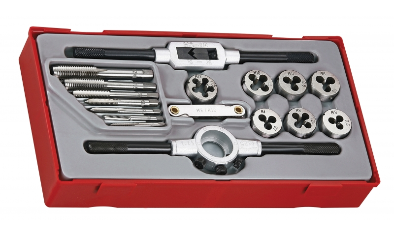 17 PIECE TAP & DIE SET